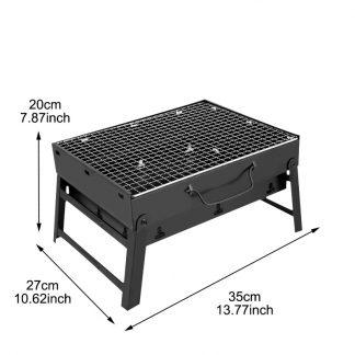 taille du Barbecue Portable Pliable Au Charbon Pour Camping