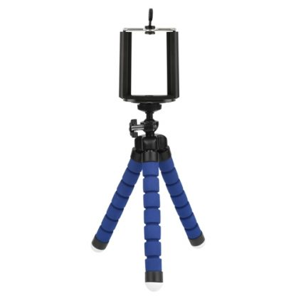 mini flexible octopus tripod bleu