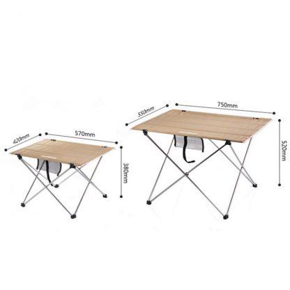 Naturehike taille des modeles de table de camping