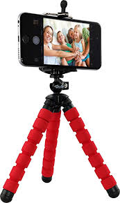 mini flexible octopus tripod rouge