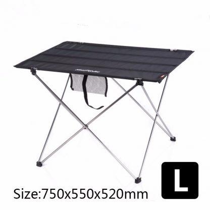 Table à pique nique camping en tissus - Taille L 75cm*55cm*52 cm, noir