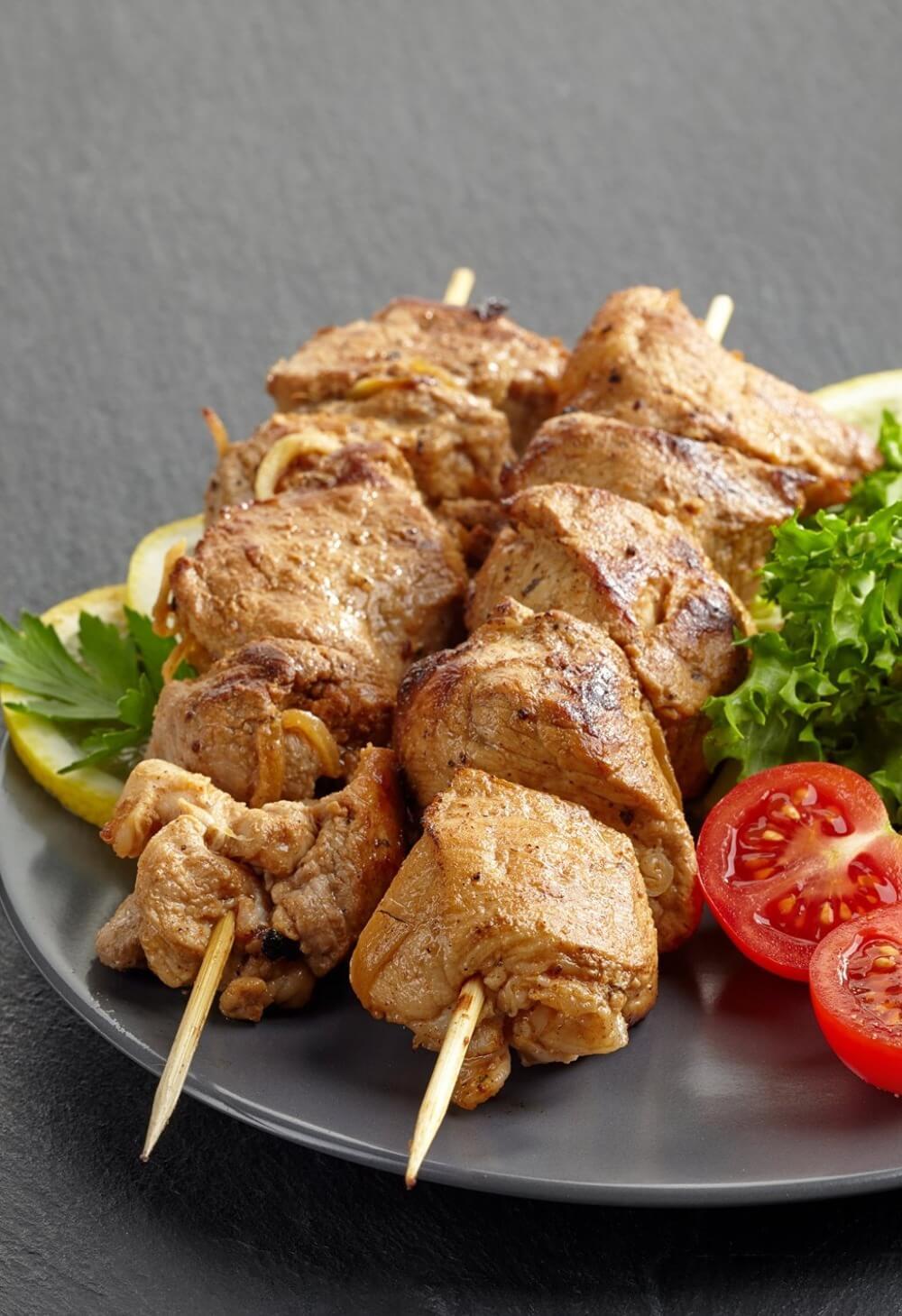 100 pcs lot Barbecue Brochettes pour Crevettes  poulet et L gumes Non Toxique et 6 - 100 piques à brochettes en bambou naturel