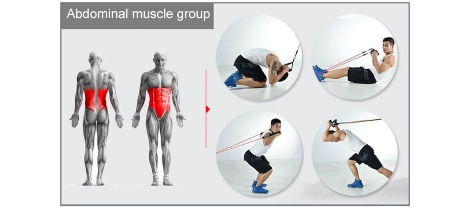 exercice elastiband pour les abdominaux - ULTIME™ WORKOUT SET-Elastiband