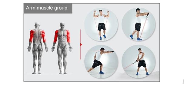 exercice elastiband pour les bras - ULTIME™ WORKOUT SET-Elastiband