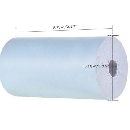 H4d49e1f0efc64675a6c29344fe166678T 416x416 - Peripage A6: 3 rouleaux de papier thermique colorés 57*30mm