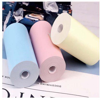 H840e90baef184601939c6df1576cca6eb 416x416 - Peripage A6: 3 rouleaux de papier thermique colorés 57*30mm