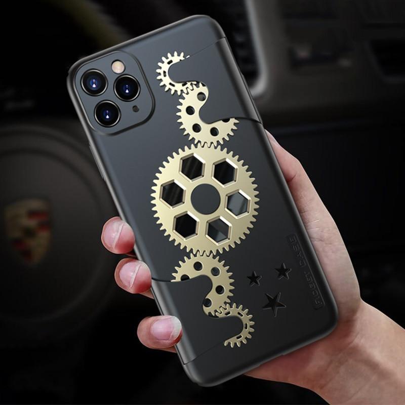 Coque iPhone décoration engrenages
