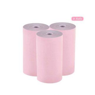Hd4d47d0a0f354de981b1c8a709b8f111D 324x324 - Peripage A6: 3 rouleaux de papier thermique colorés 57*30mm - 3 rouleaux roses