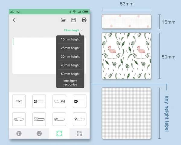 PERIPAGE A6 EX IMPRIME ECRAN APPLICATION - PeriPage A6 mini imprimante mobile