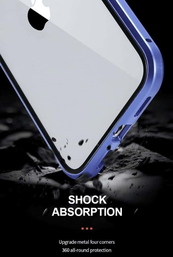 coque iphone magnetique absorbe choc - Coque iphone magnétique anti vol de données